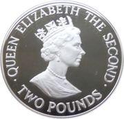 2 Pounds - Elizabeth II (Visite royale) – avers