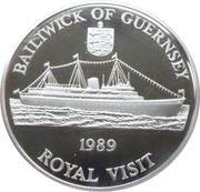 2 Pounds - Elizabeth II (Visite royale) – revers