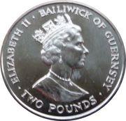 2 Pounds - Elizabeth II (90 ans de la Reine Mère) – avers