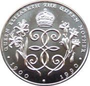 2 Pounds - Elizabeth II (90 ans de la Reine Mère) – revers