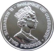 2 Pounds - Elizabeth II (40th Anniversary of the Coronation) – avers