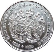 2 Pounds - Elizabeth II (40th Anniversary of the Coronation) – revers