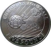 5 pounds - Elizabeth II (3eme effige - Football européen) – revers