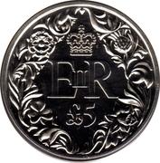 5 Pounds - Elizabeth II (Diamond Jubilee) – revers