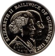 5 Pounds - Queen Elizabeth II & Prince Philip birthdays – avers