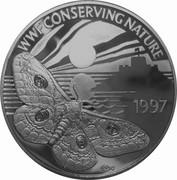 2 pounds - Elizabeth II 3eme effigie; Empereur Moth; argent – revers