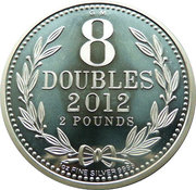 2 Pounds Elizabeth II (8 Doubles-Modern Variant) – revers