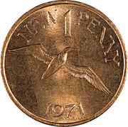 1 new penny - Elizabeth II – revers