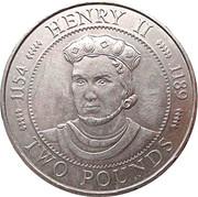 2 pounds - Elizabeth II (3eme effigie; Henry II) – revers