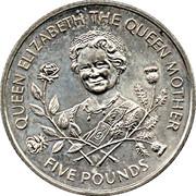 5 pounds - Elizabeth II (3eme effigie; reine mère) – revers