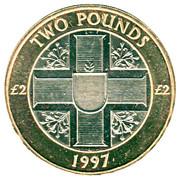 2 Pounds - Elizabeth II (3ème portrait) – revers