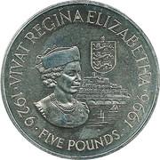 5 pounds - Elizabeth II (3eme effigie - 70eme anniversaire) – revers