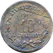 10 centavos (Atlixtac) – revers