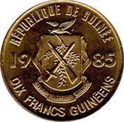 10 Francs guinéens -  avers