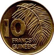 10 Francs guinéens -  revers