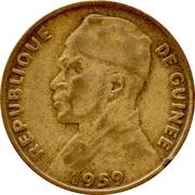 10 Francs guinéens – avers