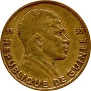 5 Francs guinéens – avers