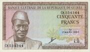 50 Francs 1960 (1963) – avers