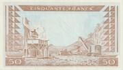 50 Francs 1960 (1963) – revers