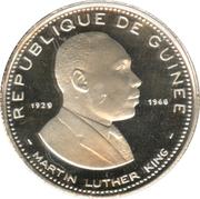 100 Francs guinéens (Martin Luther King) – avers