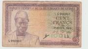 100 Francs 1960 – avers