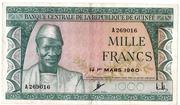 1000 Francs 1960 – avers