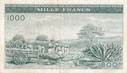 1000 Francs 1960 – revers