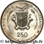 250 Francs guinéens (Soyouz) – revers
