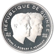200 Francs guinéens (John et Robert Kennedy) – avers