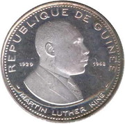 100 Francs guinéens (Martin Luther King) – avers