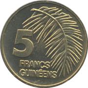 5 Francs guinéens -  revers