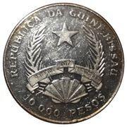 10 000 Pesos (Stegosaurus) – avers