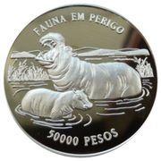 50 000 Pesos (Hippopotames-mère et petit) – revers