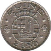 2½ escudos – avers
