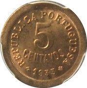 5 centavos (occupation portugaise) – revers