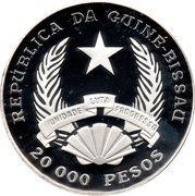 20 000 pesos (Anniversaire de la prise du pouvoir de João Bernardo Vieira) – avers