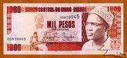 1 000 Pesos – avers