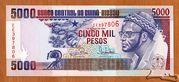 5 000 Pesos – avers