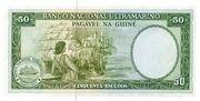 50 Escudos ( Portuguese Guinea ) – revers
