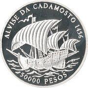 50 000 Pesos (Alvise Cadamosto) – revers