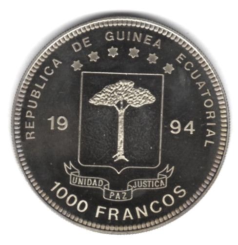 1000 francos coupe du monde de football usa 1994 guin e quatoriale numista - Coupe du monde football 1994 ...