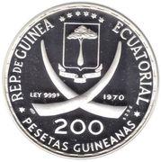200 Pesetas (Coupe du monde de football Mexique 1970) – avers