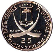 25 Pesetas  (Nations Unies) – avers