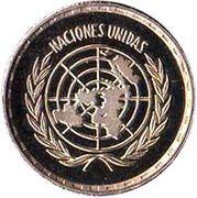 25 Pesetas  (Nations Unies) – revers