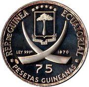 75 Pesetas (Centenaire de la naissance de Lénine) – avers