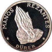 100 Pesetas  (Mains en prière) – revers
