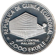 2000 Ekuele (Zèbre de Burchell) – avers