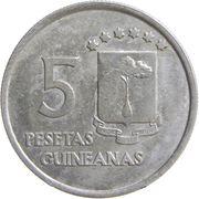 5 pesetas – revers
