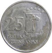 25 pesetas – revers