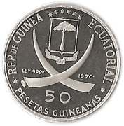 50 pesetas (Mains en prière) – avers